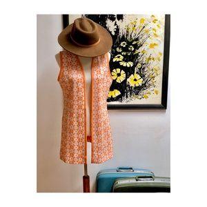 Vintage Groovy Orange Vest